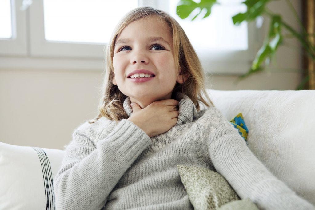 Child suffering from Croup