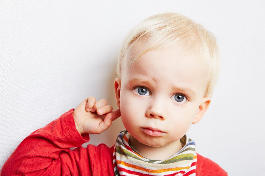 Sad Child with Ear Ache