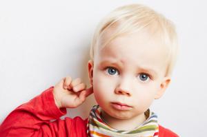 Sad Child with an Ear Ache
